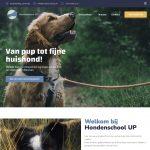 Nieuwe website voor Hondenschool UP